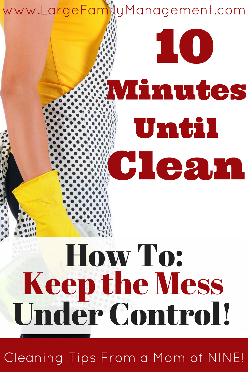 Large Family Cleaning Tips from a Mom of 9! This large family mom keeps her house picked up, here's how. Large Family Management|Large Family Tips