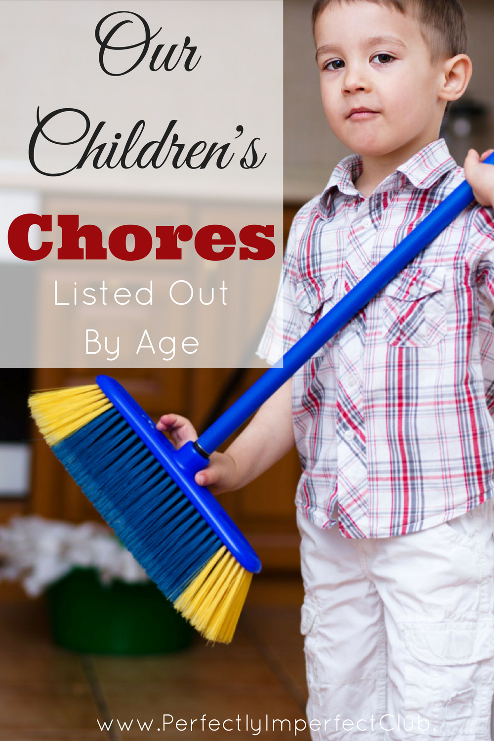 All of the different chores assigned in our home, grouped by age.|Large family|Chores