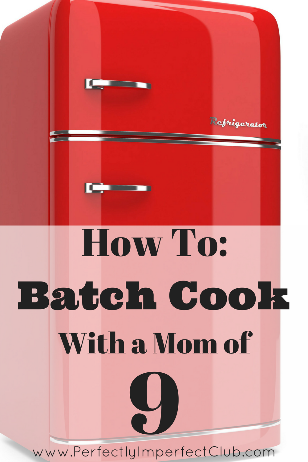 This Mom of 9 uses batch cooking to shave 15-30 minutes off of meal prep time!
