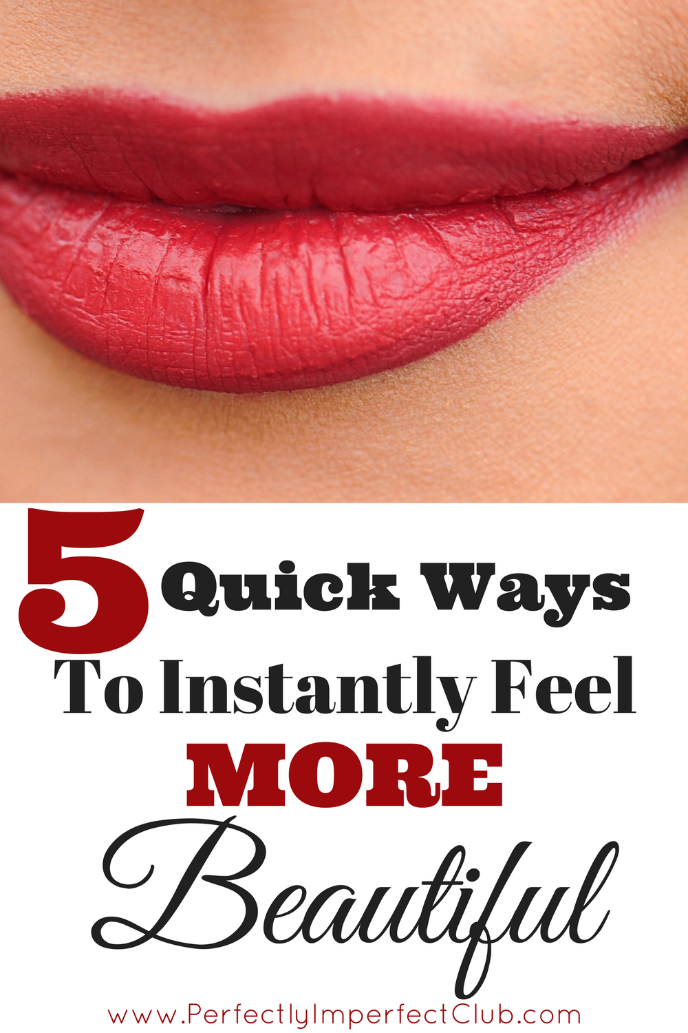 When I need a quick beauty boost in the afternoon, I pick one or two of these tips! I feel more beautiful in no time!