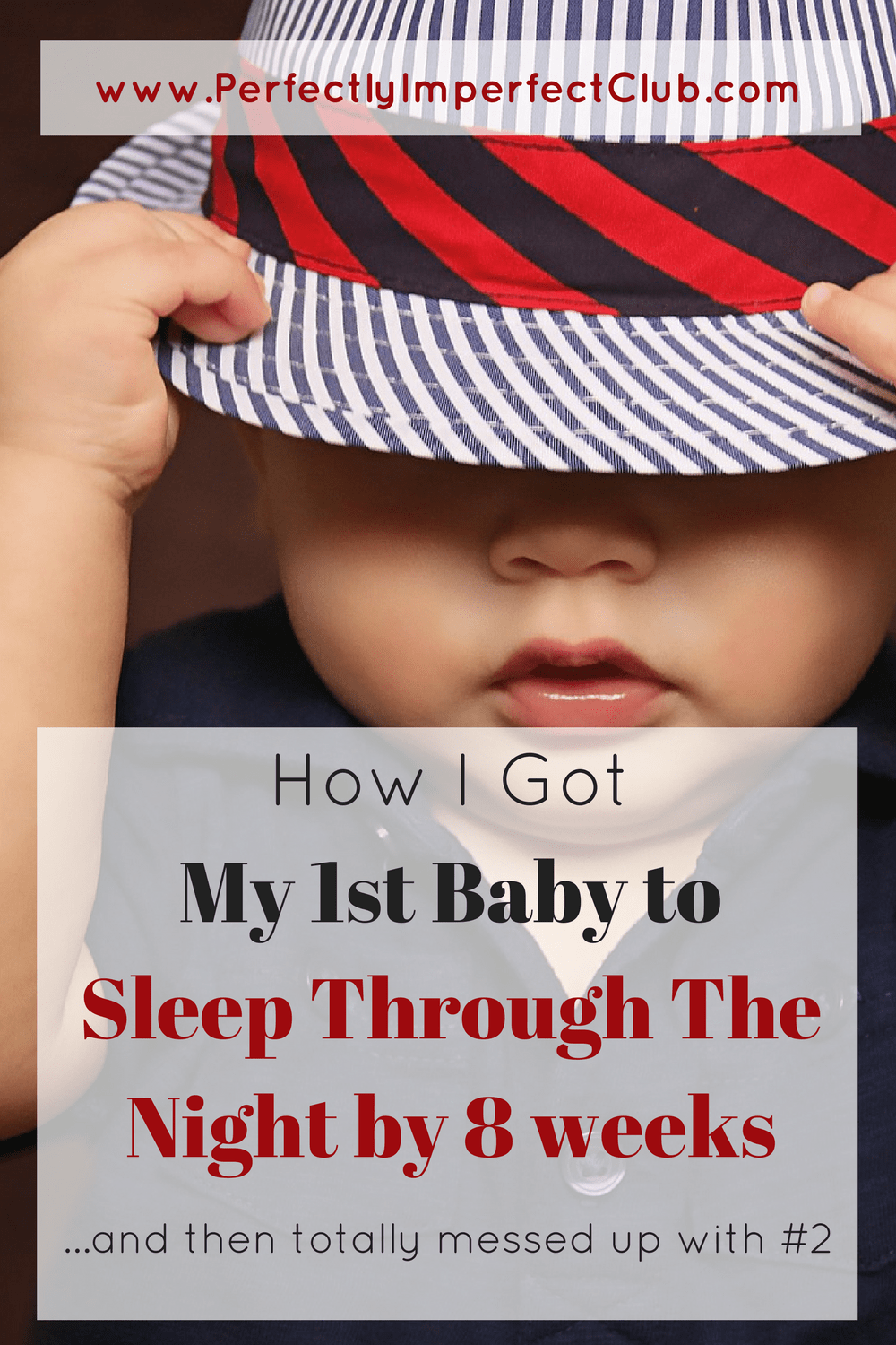 I got my first baby to sleep through the night by 8 weeks, but mothered totally differently for #2 and paid the price.
