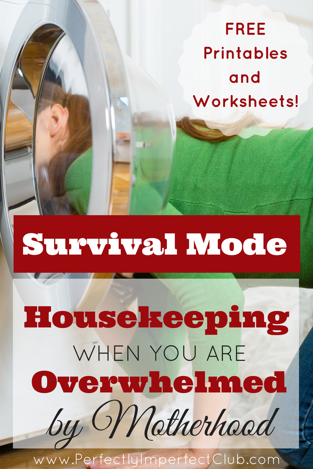 This Mom of 9 explains how she kept housekeeping under control when all of her children were young. FREE printables and worksheets!