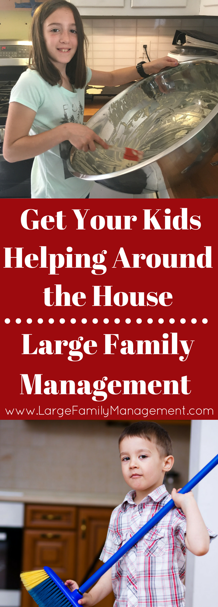 Large Family Chores and Helping Around the House