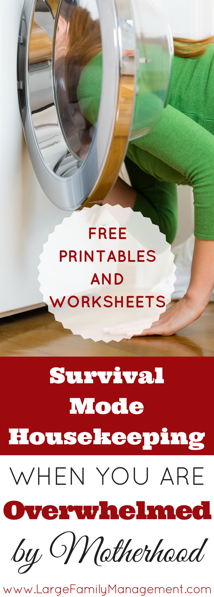 This Mom of 9 explains how she keeps housekeeping under control with a houseful of busy children. FREE printables and worksheets!|Large Family Cleaning
