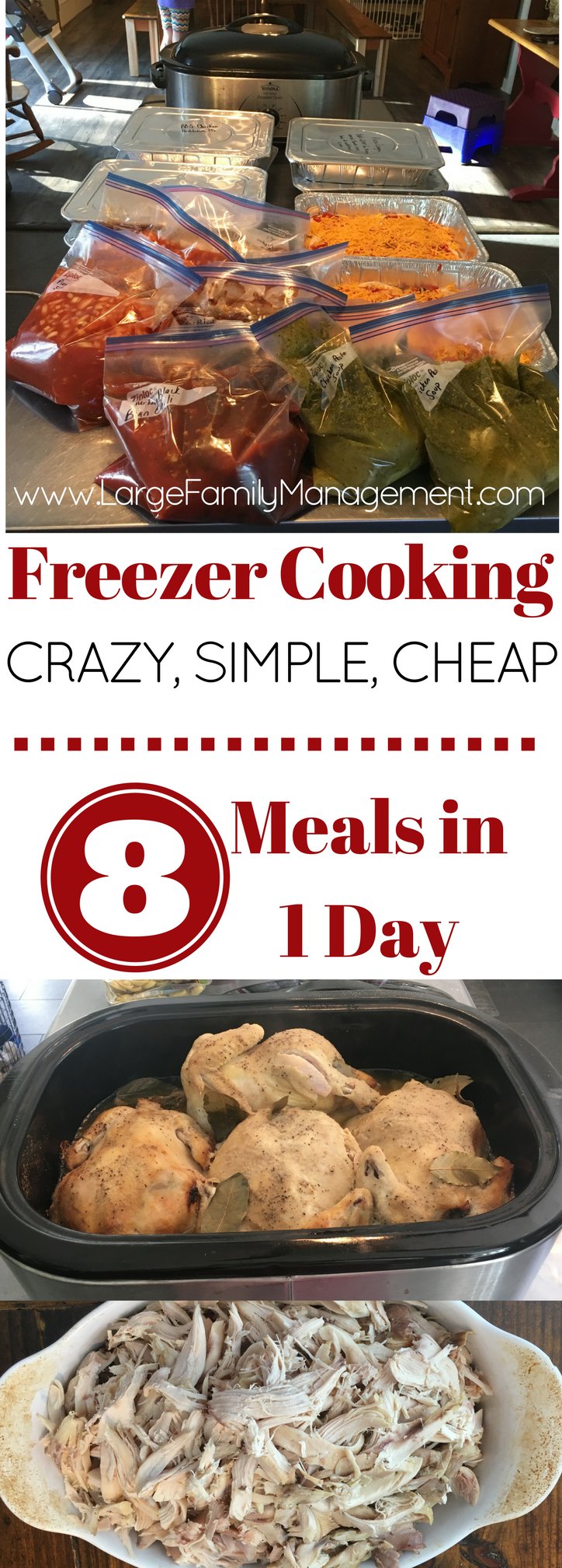 Mom of 9 shares her freezer cooking day.|large family freezer cooking